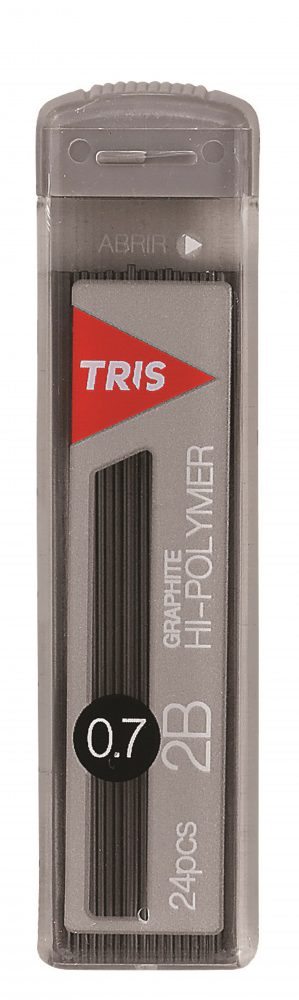 Grafite TRIS Graphite Hi-polymer 0,7mm 2B - tubo c/24 Minas