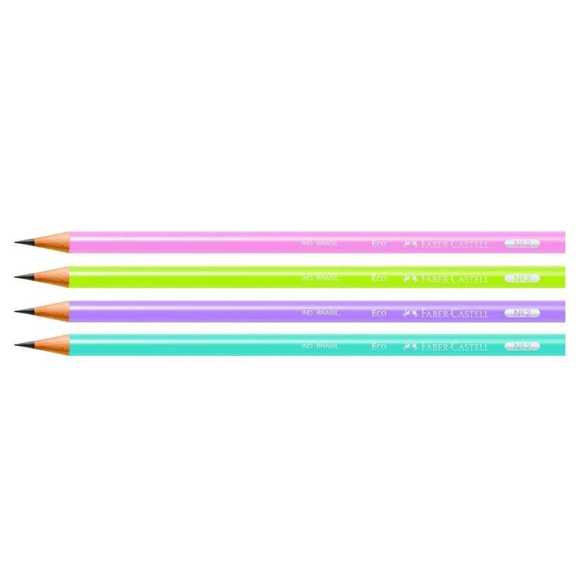 Lápis preto FABER-CASTELL Ecolápis Grafite Max Colors