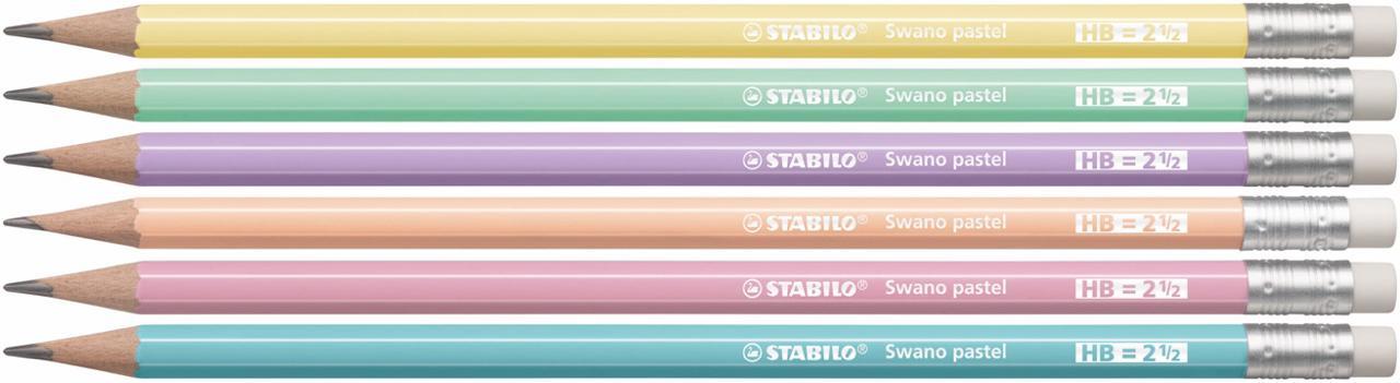 Lápis Preto STABILO Swano cores Pastel