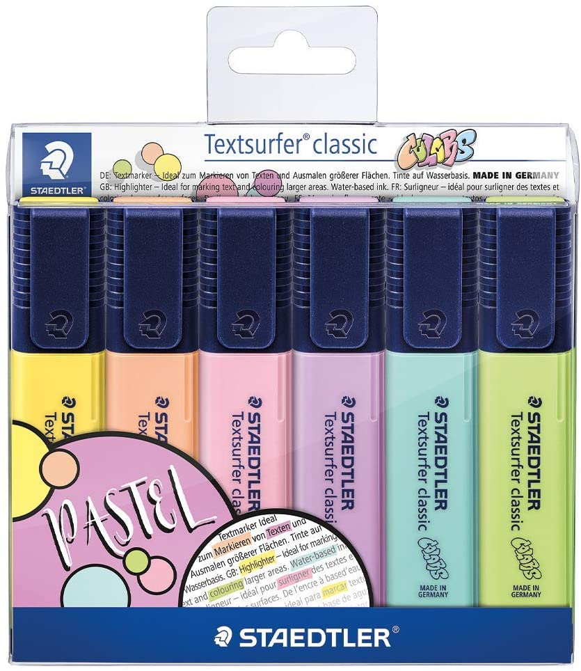 Marca Texto STAEDTLER Textsurfer Classic 6 Cores Pastel
