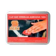 CLAY BAR VERMELHA AGRESSIVA KERS  - 160g
