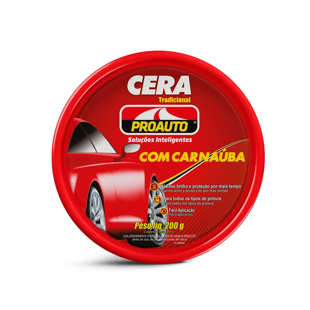 CERA PASTA TRADICIONAL COM CARNAÚBA 200 gr - PROAUTO