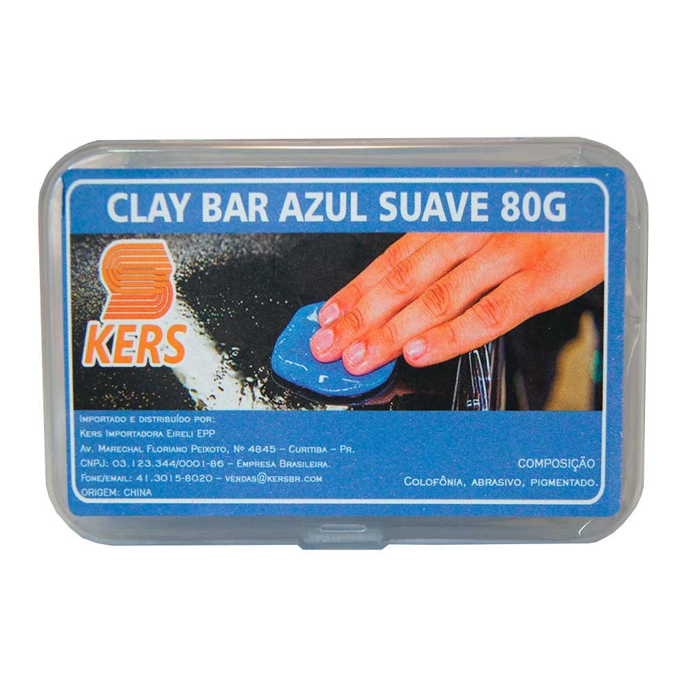 CLAY BAR AZUL SUAVE KERS - ANDERSON CAPAS - 80g