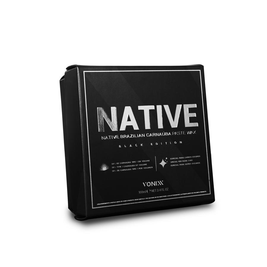 NATIVE BRAZILIAN CARNAÚBA PASTE WAX - BLACK EDITION VONIXX (100G)
