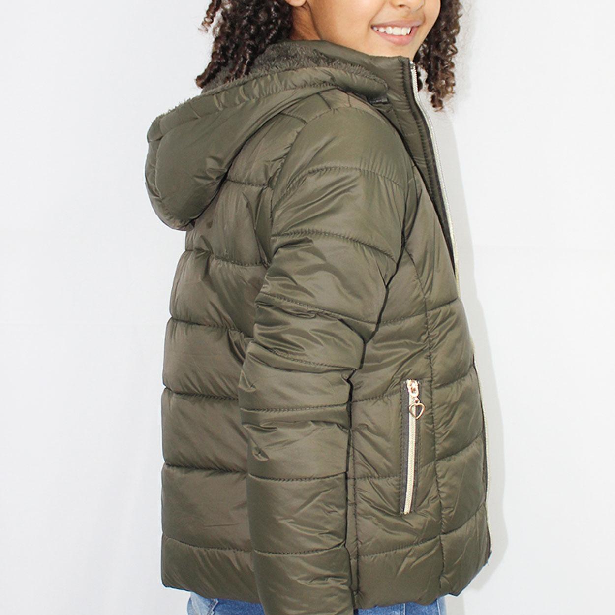 Jaqueta Feminina Infantil em Nylon