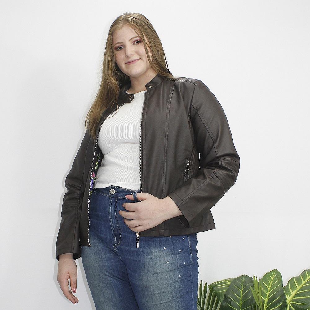 Jaqueta Feminina Plus em PU