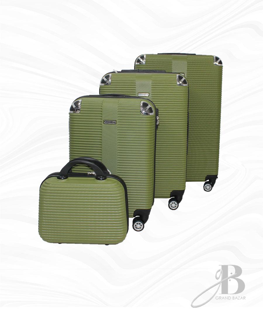 """Kit de 4 Malas Grand Bag 216020 - Necessaire (14""""), P(20""""), M(24"""") e G(28"""")"""