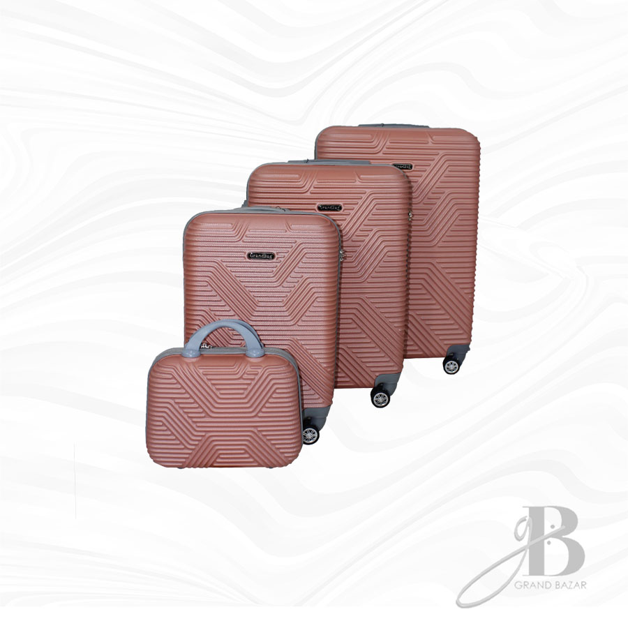 """Kit de 4 Malas Grand Bag 216008 - Necessaire (14""""), P(20""""), M(24"""") e G(28"""")"""