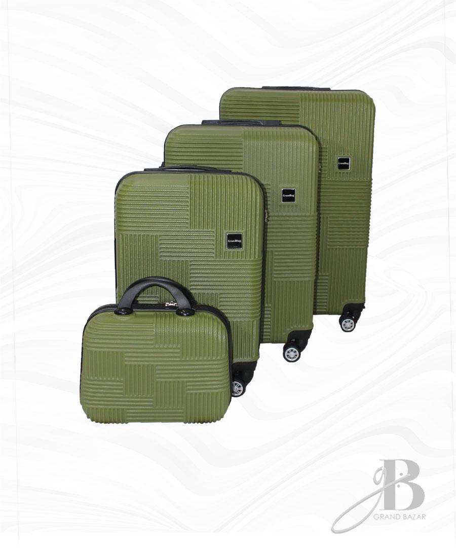 """Kit de 4 Malas Grand Bag 216011 - Necessaire (14""""), P(20""""), M(24"""") e G(28"""")"""