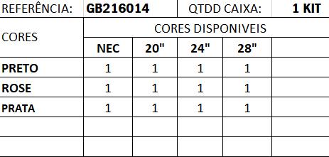 """Kit de 4 Malas Grand Bag 216014 - Necessaire (14""""), P(20""""), M(24"""") e G(28"""")"""