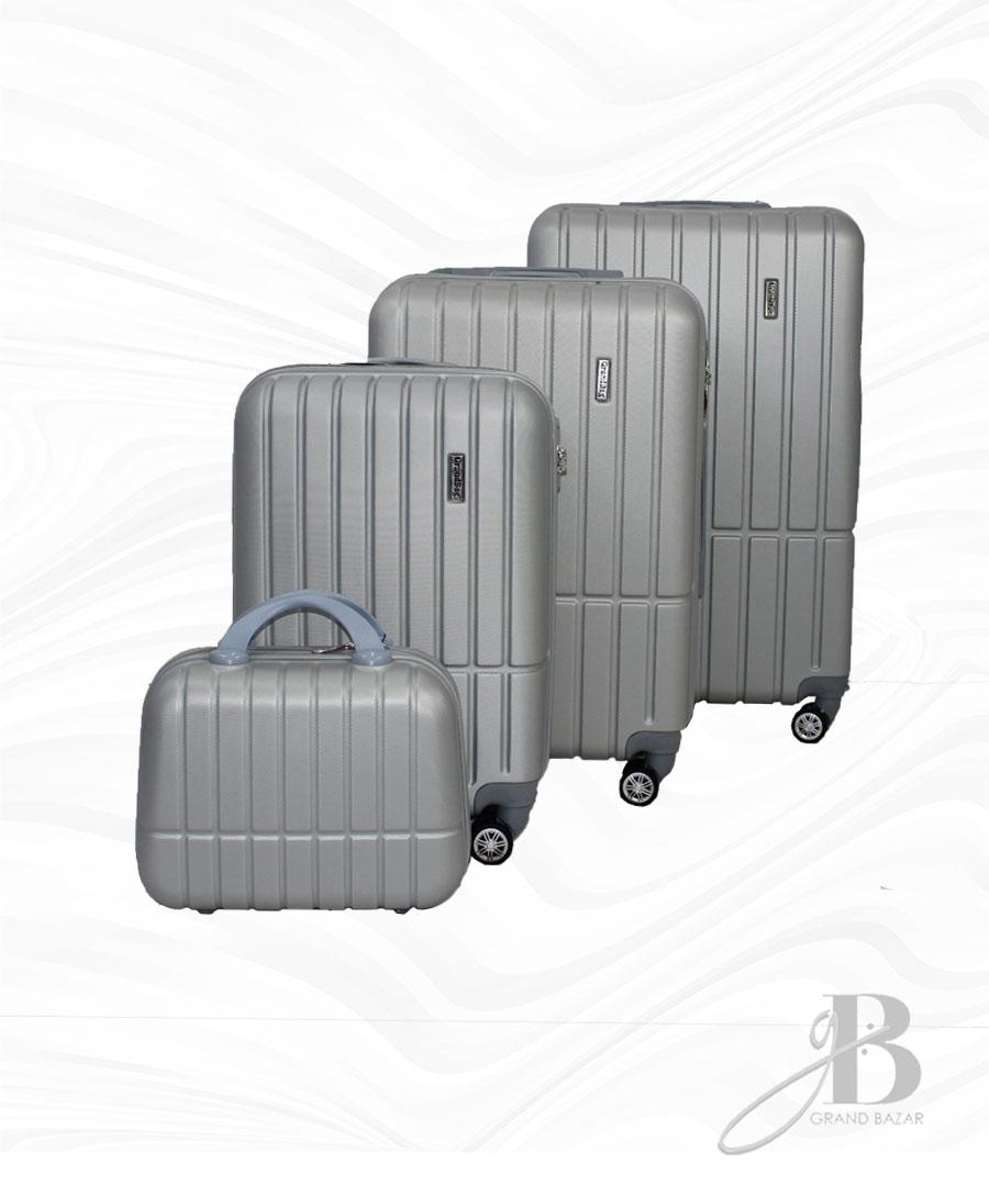 """Kit de 4 Malas Grand Bag 216017 - Necessaire (14""""), P(20""""), M(24"""") e G(28"""")"""