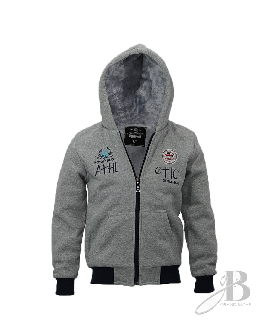 jaqueta Masculina Infantil em Moletom