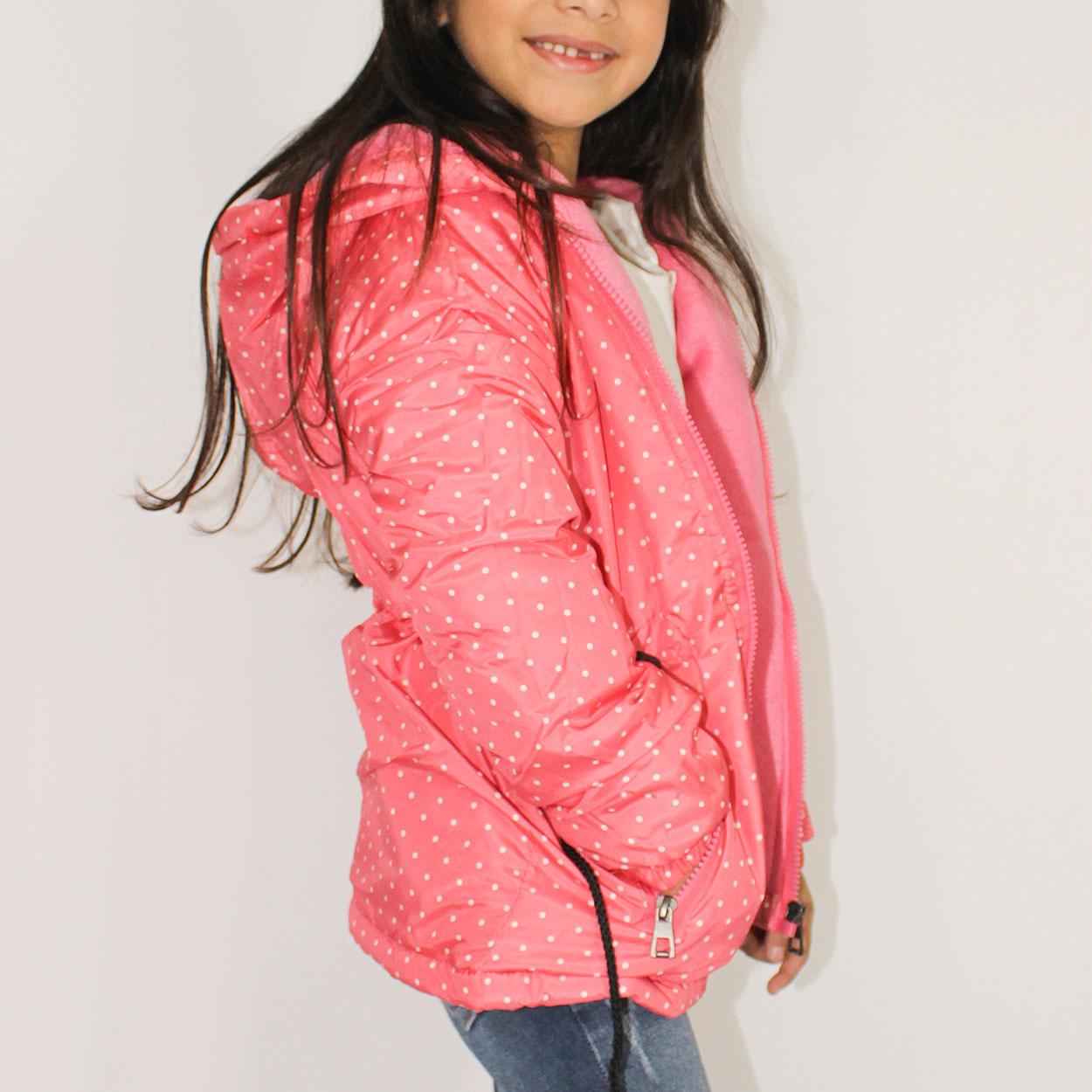 Parka Feminina Infantil em Nylon