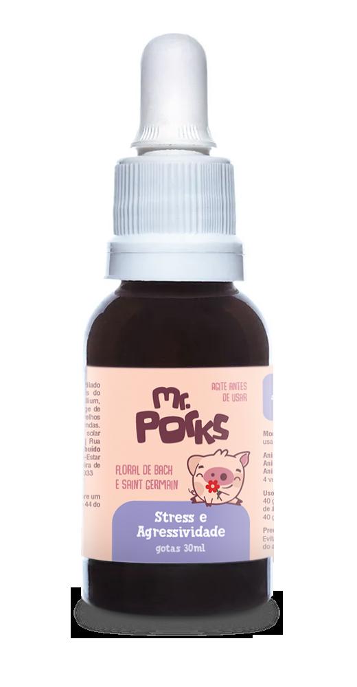 Floral Stress e Agressividade - 30 ml - Mr. Porks