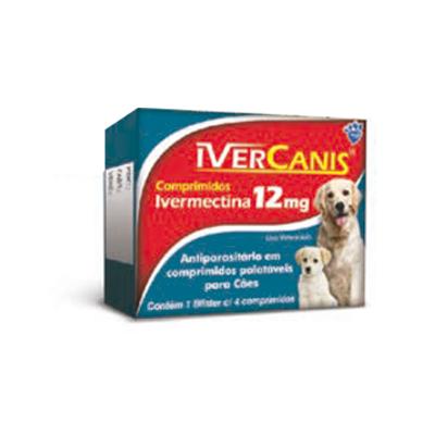 IVERCANIS IVERMECTINA 12 MG (BLISTER C/4)