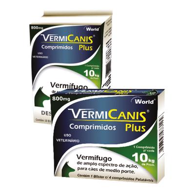 VERMICANIS PLUS 800MG (BLISTER 4 COMP.)
