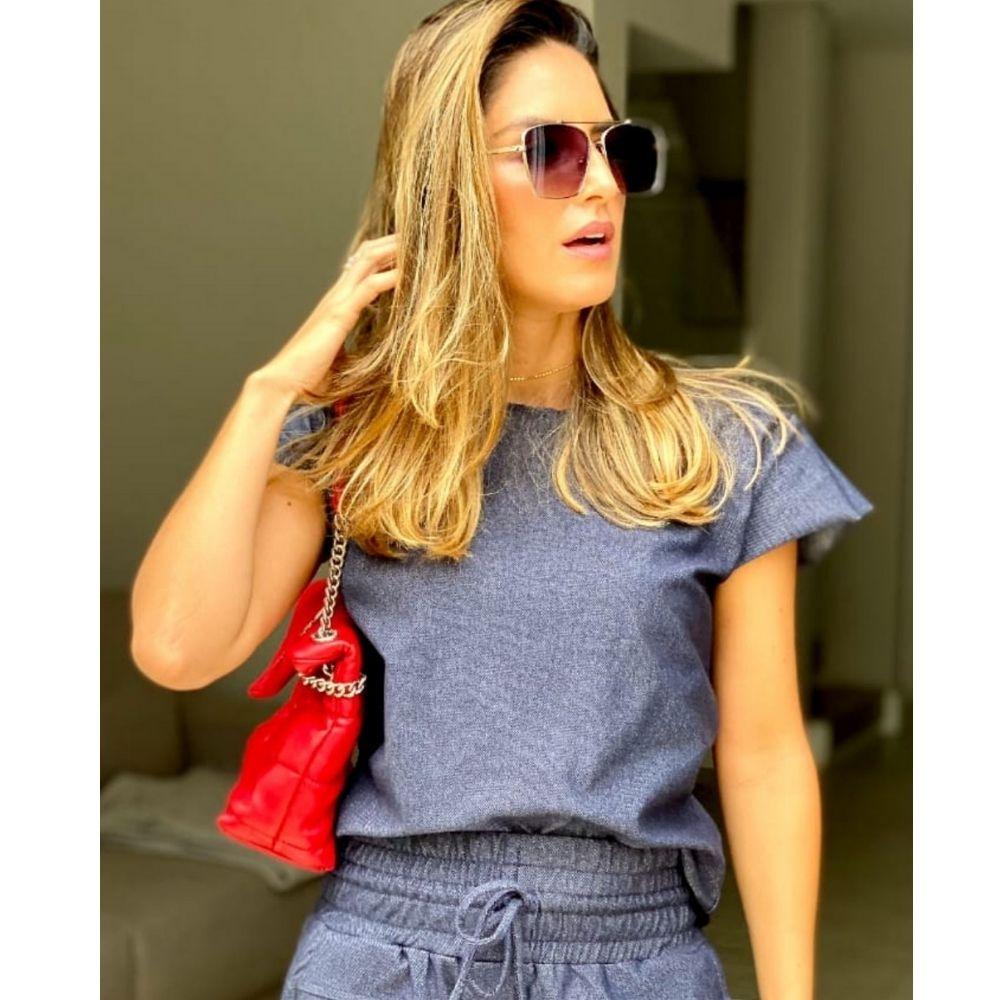 Blusa Mix Jeans