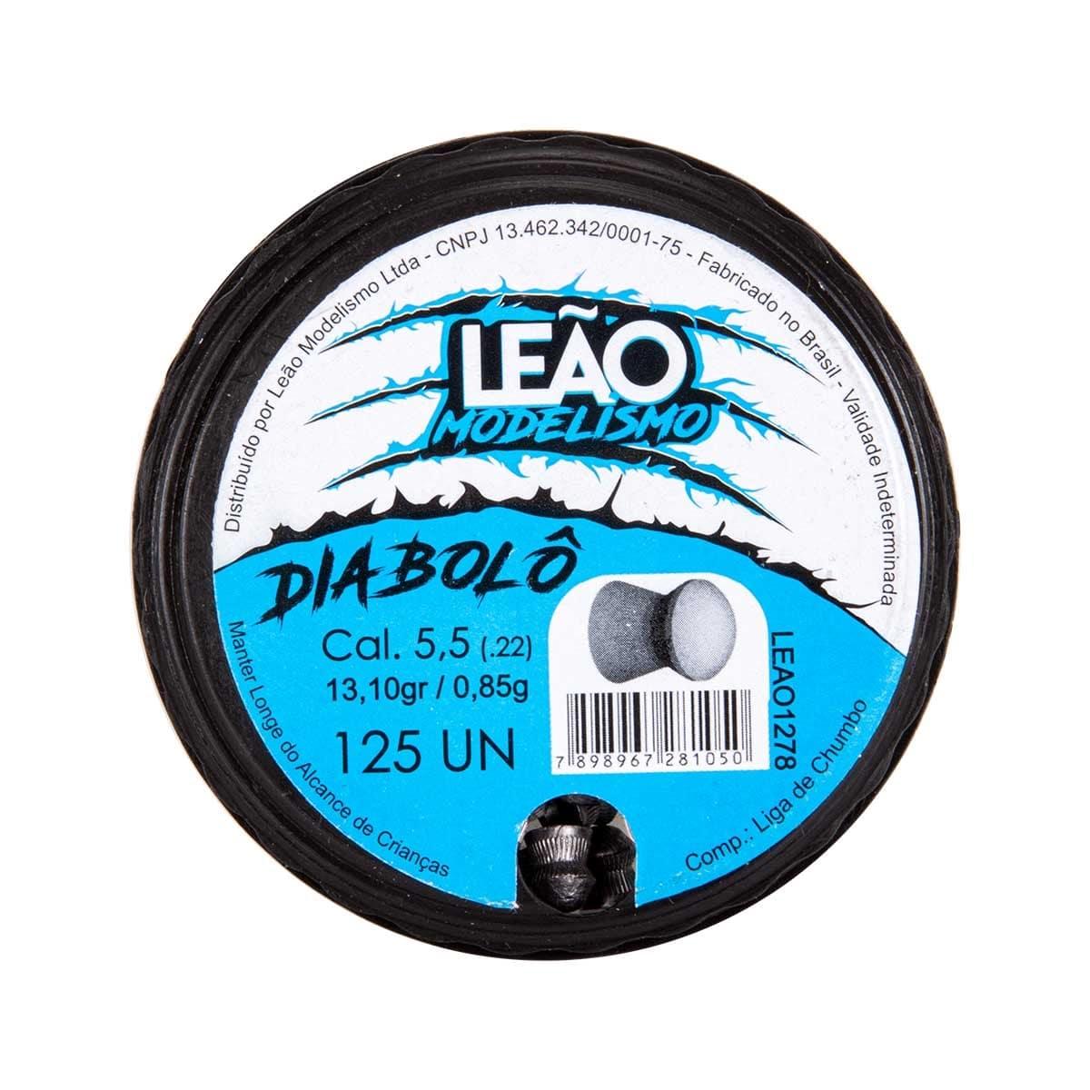 CHUMBINHO LEAO DIABOLO 5.5MM 125UN