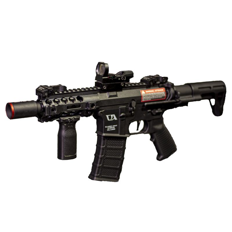 KIT RIFLE AIRSOFT M4 NEMESIS ELETRÔNICA + RED DOT + FRONT GRIP
