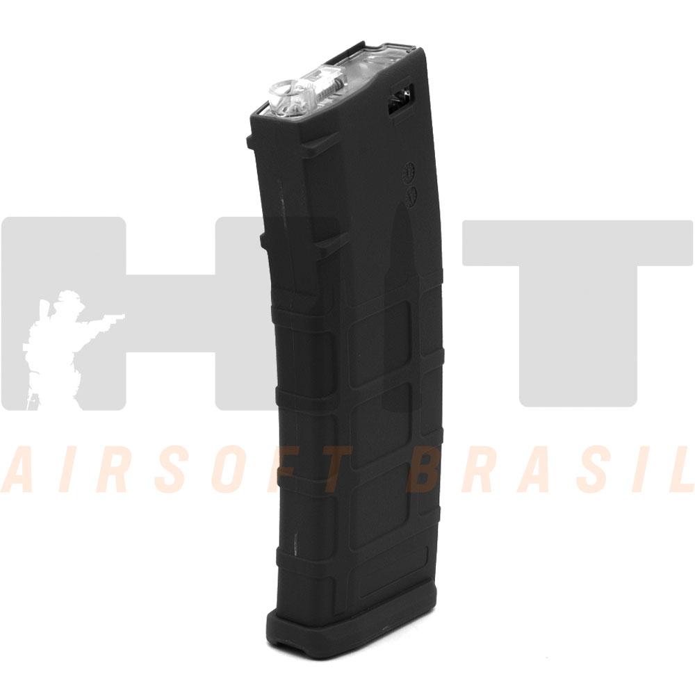 MAGAZINE AIRSOFT AEG M4 MID CAP 150RDS PRETO CYMA