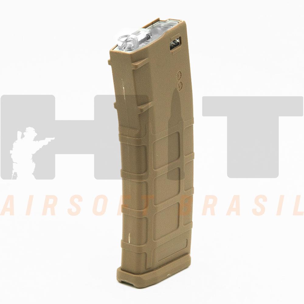 MAGAZINE AIRSOFT AEG M4 MID CAP 150RDS TAN CYMA