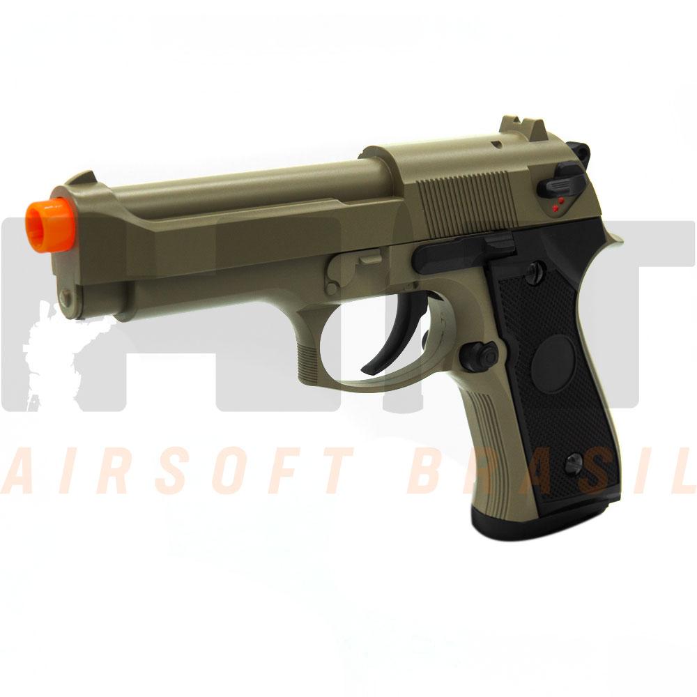 PISTOLA AIRSOFT AEP BERETTA M9 CM126 TAN CYMA 6MM
