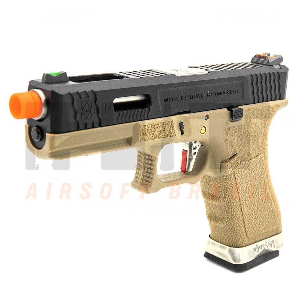 PISTOLA AIRSOFT GBB GLOCK G17 T-FORCE G001WET-2 WE