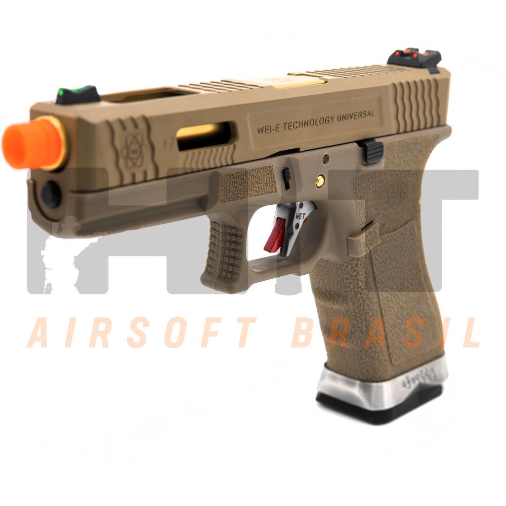 PISTOLA AIRSOFT GBB GLOCK G17 T-FORCE G001WET-9 WE