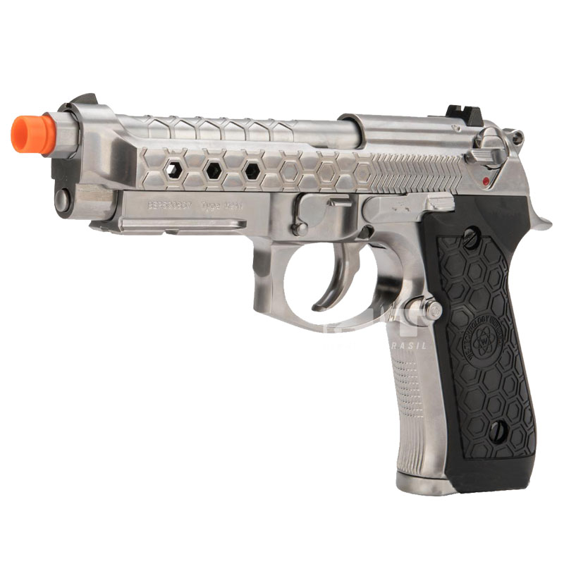 PISTOLA AIRSOFT M92 HEX SILVER - WE