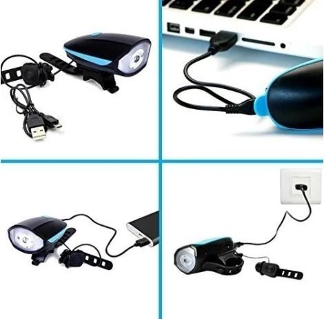 Lanterna Farol Led Bike Recarregavel USB