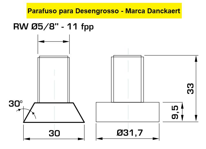 130.05 Parafuso Para Cabeçote Quadrado Danckaert com Porca 1.1/4
