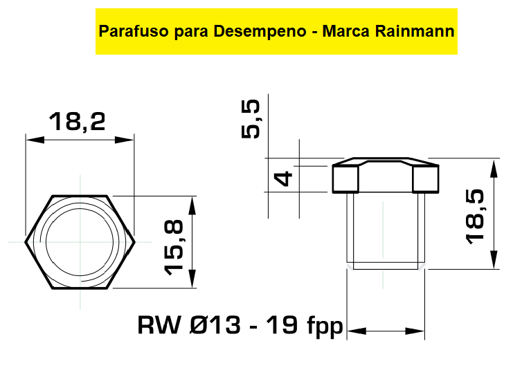 130.10 Parafuso Para Cabeçote Redondo Raimann