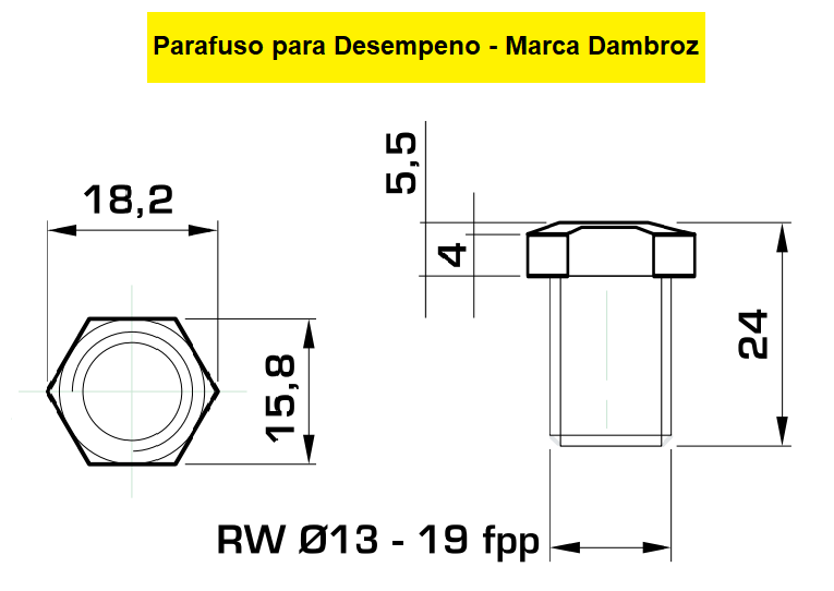 130.11 Parafuso Para Cabeçote Redondo Dambróz