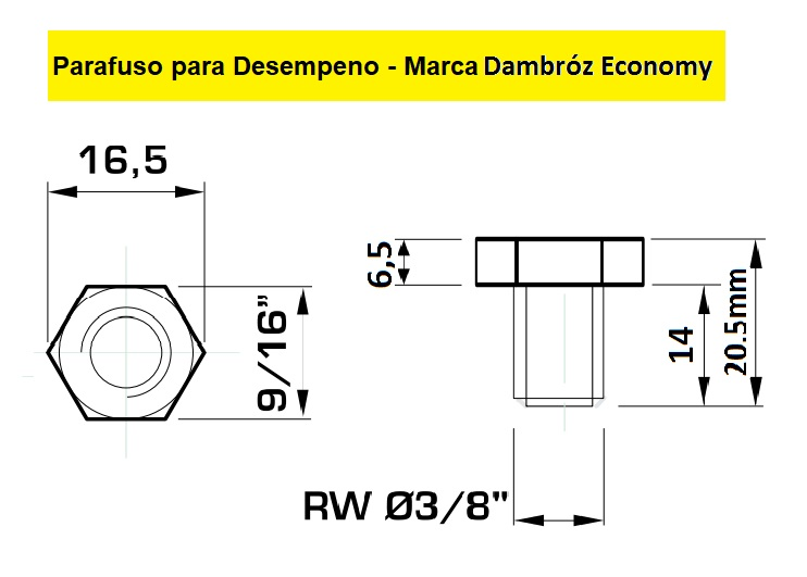 130.15 Parafuso Para Cabeçote Redondo Dambróz Economy