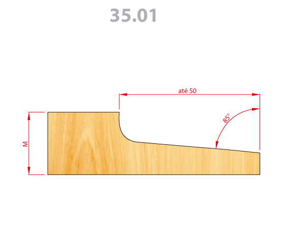 35.01 Fresa Para Almofadas 170mm 4z Lado D
