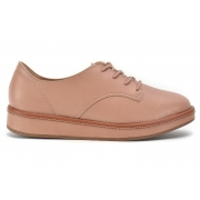 Sapato Casual Oxford Flatform Beira Rio 4235.201 Nude