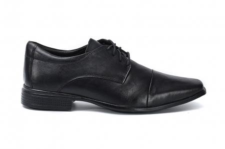 Sapato Social com Cadarço de Couro Masculino Golfer 8014 Preto