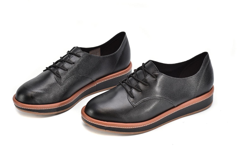 Sapato Casual Oxford Flatform Beira Rio 4235.201 Preto