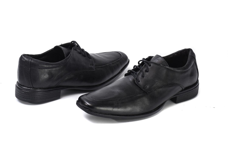 Sapato Social com Cadarço de Couro Masculino Golfer 845 Preto