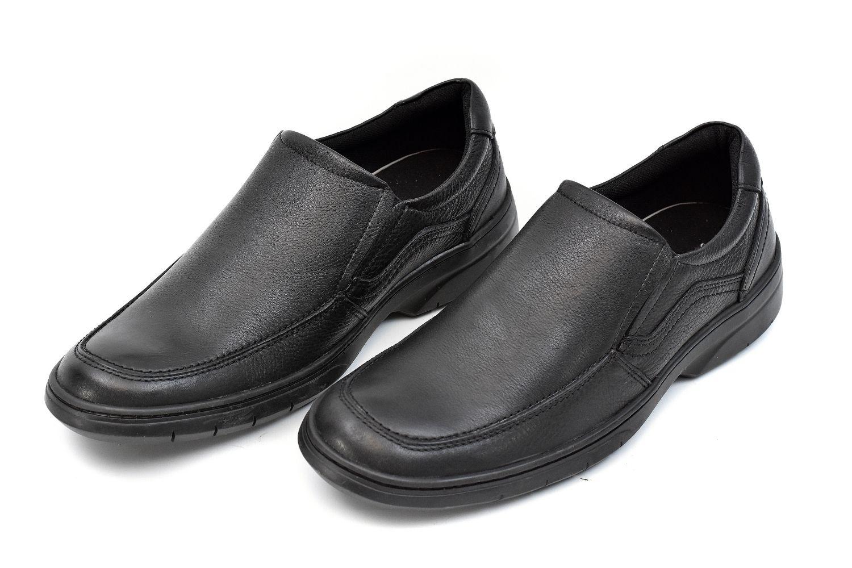 Sapato Social de Couro sem Cadarço Masculino Jovaceli 29301 Preto