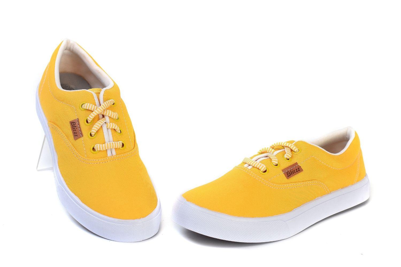 Tênis Casual Feminino Blittz 209 Amarelo