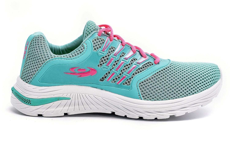 Tênis Esportivo Feminino Neec 302 Verde Agua-Pink