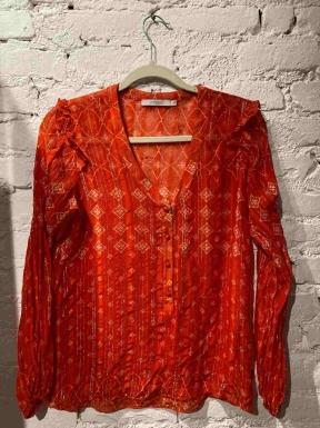 Blusa Atten Seda Pura Vermelha