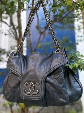 Bolsa Chanel Boyfriend Preta