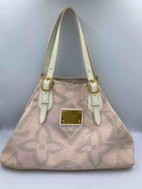 Bolsa Louis Vuitton Tahitienne Cabas Rosa e Branca