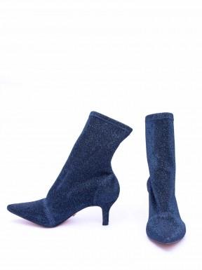 Bota Paula Torres Lurex Azul