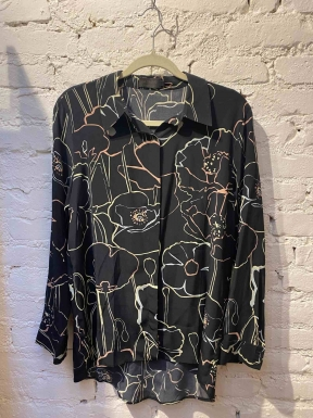 Camisa A.Brand Seda Preta