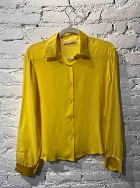 Camisa Isabela Capeto Seda Amarela