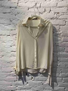 Camisa Mixed Seda Off White