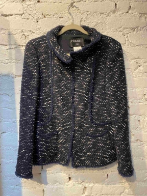 Casaco Chanel Lã Azul